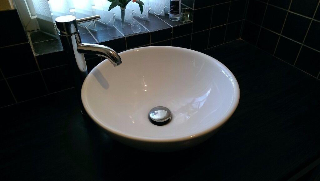 Bathroom Sinks Gumtree modern round ceramic bathroom/cloakroom basin/bowl counter top