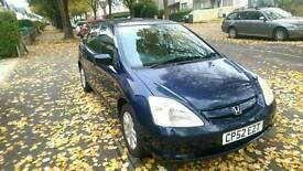 Honda civic 1.6L petrol 12 months MOT family car