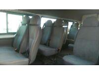 TRANSIT MINIBUS PASSENGERS 12 SEATS VAN BUS CHAIRS