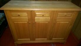 Chest cabinet, genuine oak