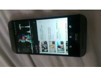 htc one m8 back housing looks new and screen is new grey unlocked 16gb