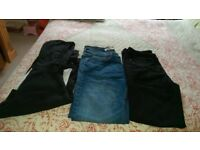 One Black Hoodie medium and 2 pairs of Jeans both 32 waist. Price is for all items