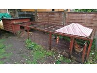 Chicken House and large chicken run. Would suit other medium size pets.