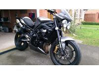 Triumph Street Triple R,09,Low Miles,Beautiful Metallic Grey,Triumph Arrows,complete engine overhaul