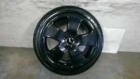 ALLOYS X 4 OF 18 INCH GENUINE MERCEDES C/CLASS/E/CLASS/FULLY POWDERCOATED INA STUNNING BLACK/SPARKLE