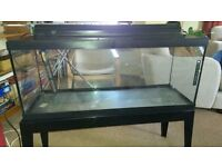 Tropical Fish Tank (3') with working light, heater, metal stand and accessories
