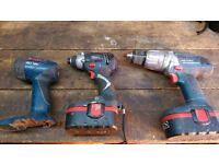 Bosch professional GDR 18v GSB 18 VE2 cordless drill, torch,drill driver battery