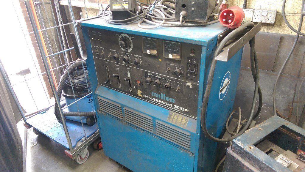 Miller Syncrowave 300P AC/DC Pulse Water Cooled Tig Welder, 415v 3 ...
