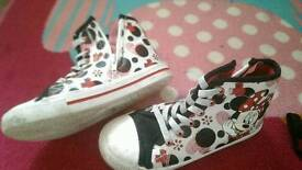 Childrens high top trainers size 13