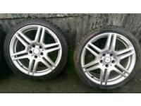"""Mercedes Amg 18""""alloy wheels 5x112"""