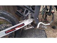 Rear swing arm back wheel and rear suspension
