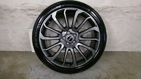 ALLOYS X 4 OF 22 INCH RANGEROVER/CLAYTONS FULLY POWDERCOATED INA STUNNING ANTHRACITE NICE ALLOYS