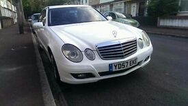 GORGEOUS WHITE MERCEDES E CLASS 2.1 DIESEL AUTOMATIC, DRIVE LIKE NEW