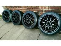 Mitsubishi EVO alloys with Pirelli P Zero track tyres 4/5/6/7/8/9/10