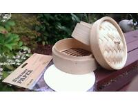 Bamboo steamer + unopened steamer paper - It really makes an impression...£10 ONO