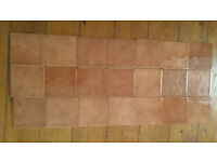 24 light brown small tiles ripple effect for kitchen or bathroom