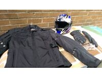 Ladies complete motorcycle outfit