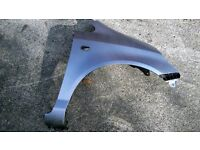 honda jazz front drivers side wing in silver 2001-2005
