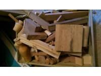 Box of hardwood off cuts