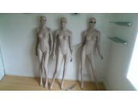 3 Female Mannequins - full body