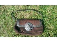 Brown Suede Handbag.