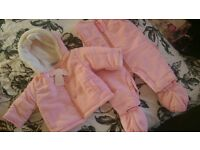 0-3 months baby snowsuit and coat