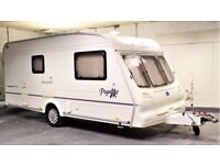 2002 BAILEY PAGEANT IMPERIAL, 2 BERTH WITH END BATHROOM & AWNING, LIGHT WEIGHT - SEPARATE SHOWER