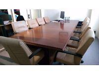 Mahogany Boardroom Table in Excellent Condition - Seats 10