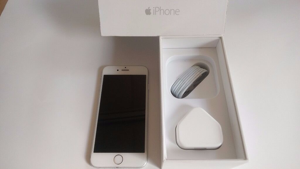 Very Good Condition Boxed Apple iPhone 6 16GB UNLOCKED Silver White Cheap Smartphone Mobile Phonein Shepherds Bush, LondonGumtree - Apple iPhone 6 16GB Silver White Smartphone Boxed and includes original charging plug and charging cable UNLOCKED TO ANY NETWORK Used but very good condition phone with minor signs of wear. Got few marks on the sides and around the edges. Some slight...