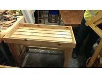 Raised Planter Bench