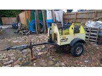 car yard motorbike dolly trailer with brakes / handbrake suspension jockey wheel project axle hitch