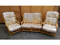 3 piece wicker conservatory set