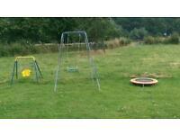 2swings, trampoline