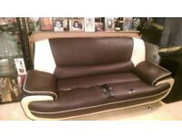 FREE BROWN 3 SEATER SOFA - PLEASE TAKE AWAY ASAP FROM GREENFORD, UB6 9HQ - CALL - 07949886140