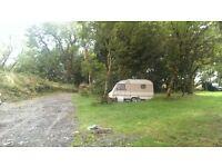 Pitch for Touring Caravan, Bus, Van, Campervan, Lorry Parkup @ farm Totnes. Low Impact Living Camper