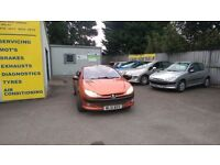 CONVERTIBLE PEUGEOT 206cc 2.0 PETROL - REDUCED TO CLEAR