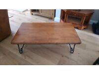 Large real wood coffee table - excellent condition