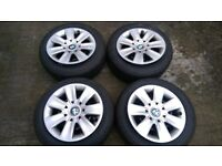 "4 x Genuine 16"" BMW Wheels + Goodyear Winter Tyres + 4 x Genuine BMW Wheel Trims - Z4 / 1 / 3 series"