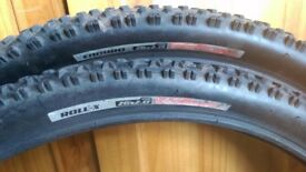Excellent Condition Enduro Mountain Bike tyres Pair, 26inchx2.0