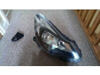 Vauxhall Corsa D headlight unit black facelift model 2011 onwards