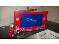 For sale: Disney Pixar Mack Truck LCD TV with remote, good condition, hardly used