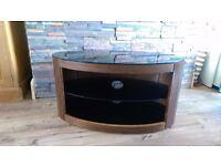 Walnut effect TV stand