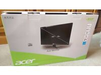 """Black Acer Monitor 23.8"""" Screen (Boxed)"""