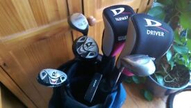 Wilson, Spalding, Ultima Right Handed Golf Clubs & Bag, Great Condition