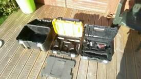 3 x Dewalt tstak boxes sold as set.