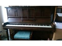 Upright Piano by Saville Pianos Ltd London, free, collection only, needs tuning, with piano stool.