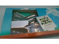 Potty about plants Kneeler gift set ** BRAND NEW ** inc tools, gloves & kneeler pad