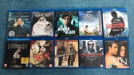 BLU RAY FILMS - 10 FILMS ALL IMMACULATE LIKE NEW CONDITION