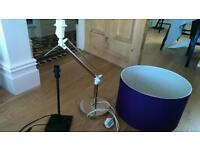 IKEA lampshade and two IKEA table lamp stands