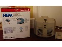 Honeywell Air Cleaning System. Model DA-5018E. True HEPA Filter which removes 99.97% effectiveness